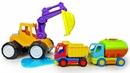 Машинки для детей. Клоун Гоша распаковал слайм, и в нем застрял Экскаватор! Видео про игрушки