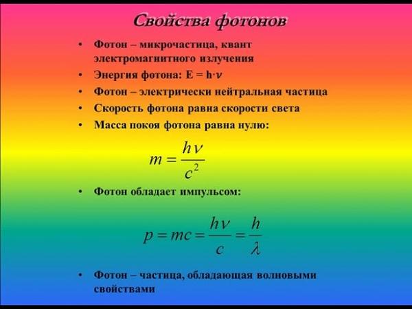 Физика Световые кванты Формула Планка 11 класс