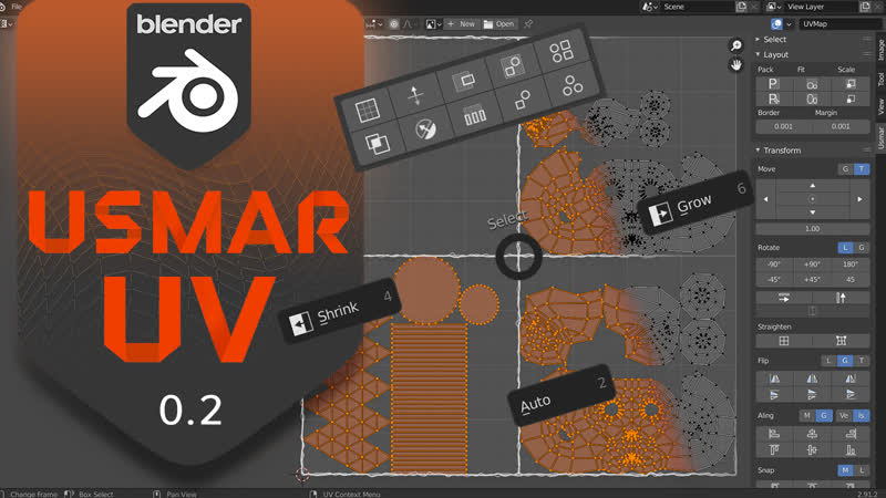 Usmar UV - Blender Addon. v0.2