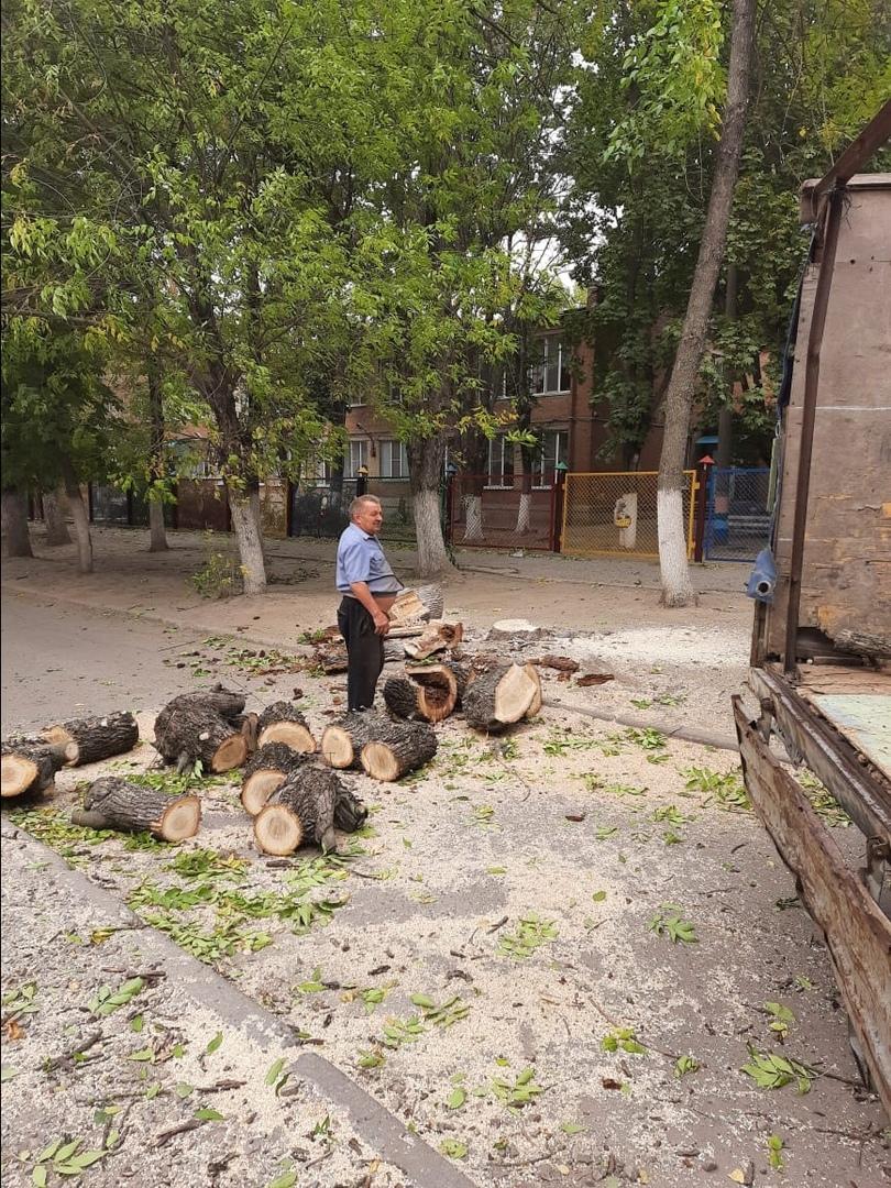МКУ «Благоустройство» о работах на аварийных участках из-за пыльной бури и порывистого ветра