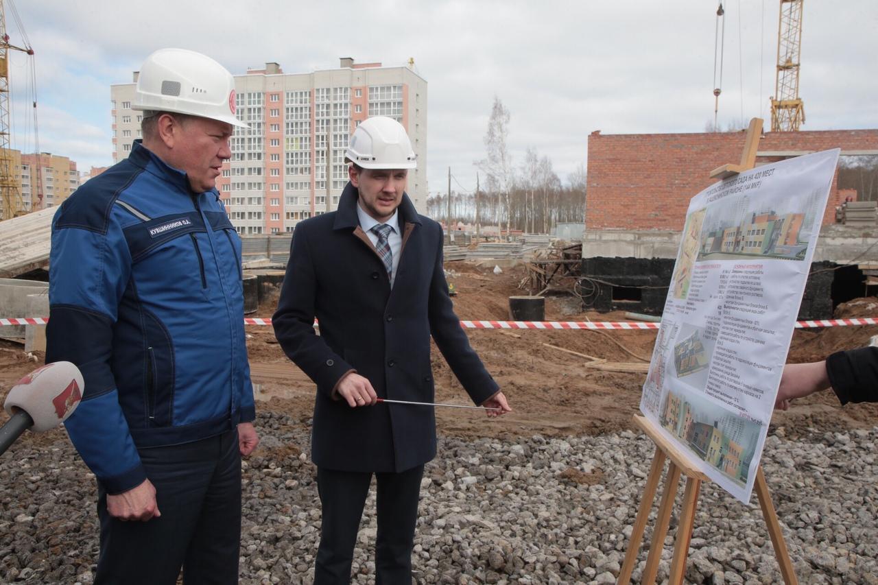 Губернатор Олег Кувшинников недоволен темпами строительства детских садов в Череповце